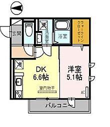 JYOHOKU欅STREET[203号室]の間取り