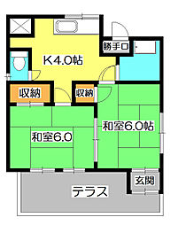 [一戸建] 埼玉県狭山市入間川2丁目 の賃貸【/】の間取り
