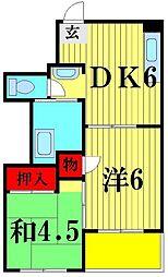 秋谷ビル[5階]の間取り