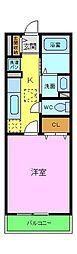南海高野線 金剛駅 徒歩20分の賃貸アパート 1階1Kの間取り