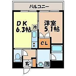 長崎県長崎市築町の賃貸マンションの間取り