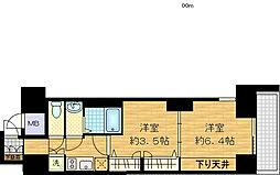 レジュールアッシュ梅田AXIA[6階]の間取り