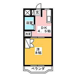 リベルテイシダ[2階]の間取り