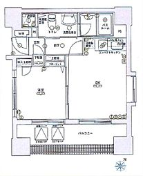 神奈川県横浜市中区南仲通1丁目の賃貸マンションの間取り