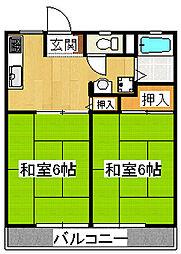 サンライフ鈴春[1階]の間取り