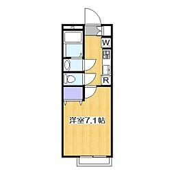 リリックコートSEREVA 5[1階]の間取り