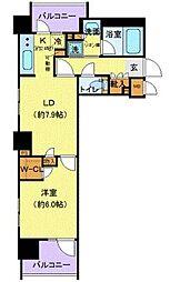RELUXIA府中 4階1LDKの間取り