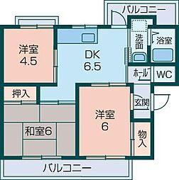 新賀暁マンション[305号室]の間取り