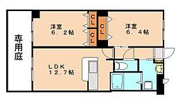 メゾン・ド・ルピナス2号館[1階]の間取り