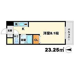 ラウム江坂[5階]の間取り
