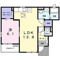 兵庫県加古川市尾上町口里字桑間の賃貸アパートの間取り