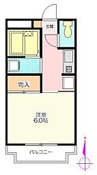 サンモール松[1階]の間取り