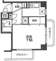 パレ・ドール検見川[407号室]の間取り
