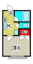 キャバンクラブ[2階]の間取り