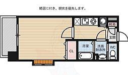 ピュアドーム箱崎アネックス 8階1Kの間取り