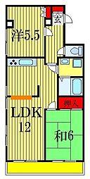 船橋海神マンション[3階]の間取り