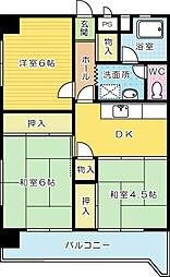 第二熊谷ビル[401号室]の間取り