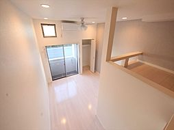 stage 黒門町の洋室6.6帖 上階ロフト5.8帖(収納でも部屋でも使えます)