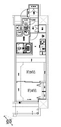 Osaka Metro堺筋線 天神橋筋六丁目駅 徒歩10分の賃貸マンション 3階1DKの間取り