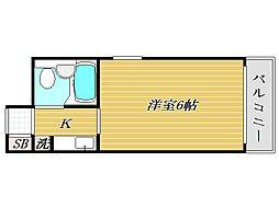 リゾーム中里III[8階]の間取り