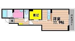 岡山県倉敷市笹沖丁目なしの賃貸アパートの間取り