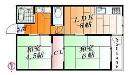 箕面ローレルハイツII[2階]の間取り