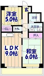 メイグリーン塚田[402号室]の間取り
