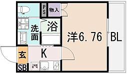 ルナ・ソレイユ近江堂[2階]の間取り