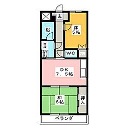 アビタシオンアムール[1階]の間取り