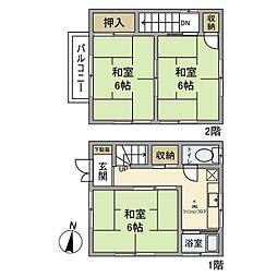 [一戸建] 東京都足立区千住柳町 の賃貸【東京都 / 足立区】の間取り