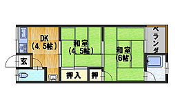 第一永井荘[205号室]の間取り