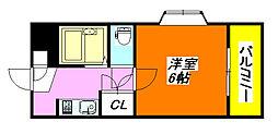 メゾン708 301号室[3階]の間取り