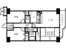 フェリーチェ和泉[2階]の間取り