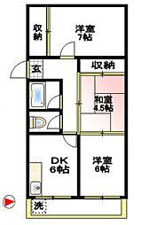 コーポ徳延I[2階]の間取り