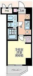 エルスタンザ大口[6階]の間取り