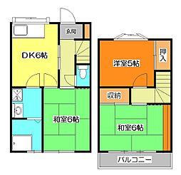 [テラスハウス] 東京都東久留米市下里3丁目 の賃貸【東京都 / 東久留米市】の間取り