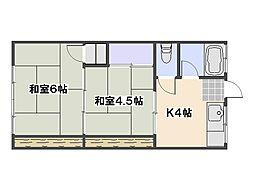 新納アパート[204号室]の間取り