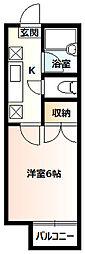 コーポNSX2階Fの間取り画像