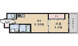 大阪府大阪市阿倍野区播磨町1丁目の賃貸マンションの間取り