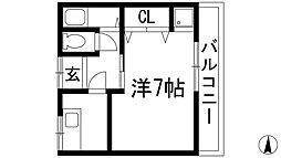 [テラスハウス] 兵庫県川西市花屋敷1丁目 の賃貸【兵庫県/川西市】の間取り