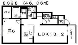 メゾン−10[102号室号室]の間取り