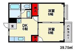 カーサ貮番館[2階]の間取り
