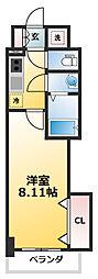 Luxe新大阪SOUTH 5階1Kの間取り