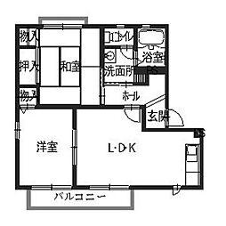 ACCENTI[2階]の間取り