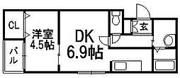 HS213[201号室]の間取り