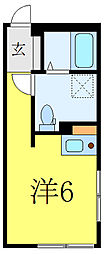 MODECO OYAMA 4階ワンルームの間取り