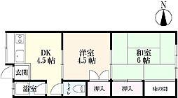 大財アパート[2階]の間取り