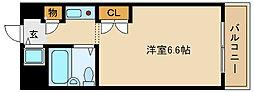 兵庫県尼崎市南竹谷町2丁目の賃貸マンションの間取り