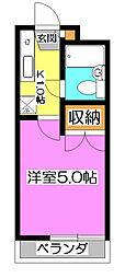 コーポカヤマ[1階]の間取り