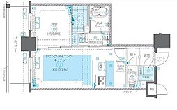 JR総武線 浅草橋駅 徒歩6分の賃貸マンション 7階1LDKの間取り
